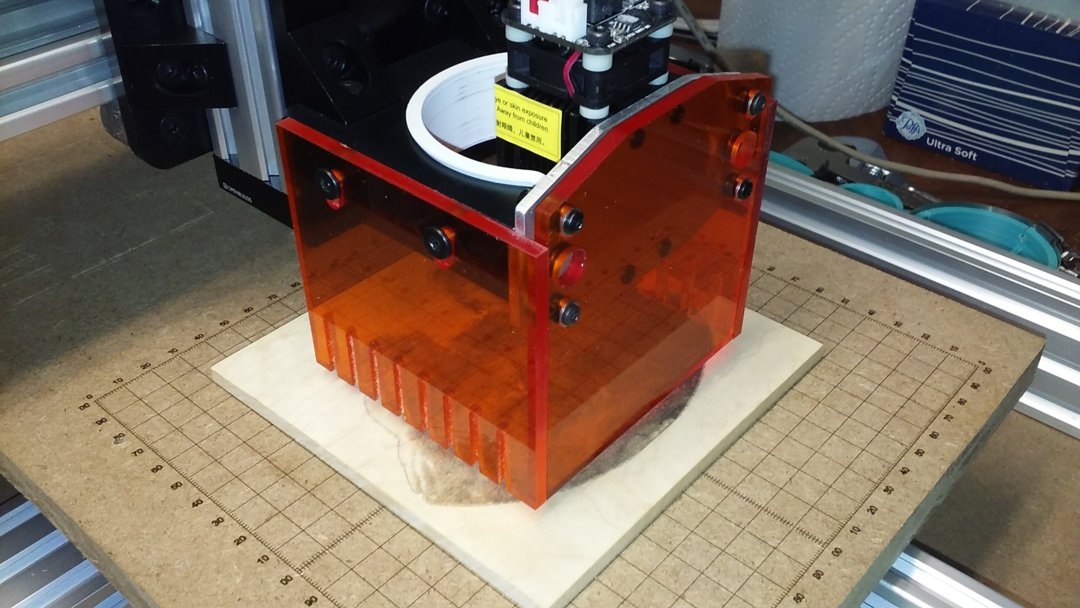 Laser Shield Box for Spindle Adapter | OpenBuilds