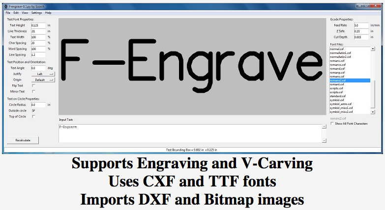 F-Engrave : converts TTF and other fonts/files to G-code | OpenBuilds