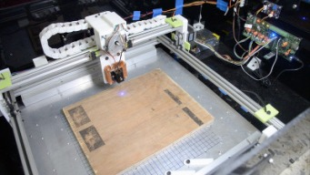 A simple XY laser engraver/cutter