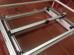 laser gantry use mini v end block my own design
