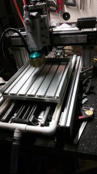 Behemoth cnc router with linear rails