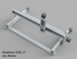 FlashPoint CNC v1: 500mm x 1000mm 3-Axis CNC Router